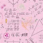 Mathe Macht Richtig Spass Nahtloses Vektormuster