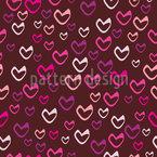 Coeurs Doux Motif Vectoriel Sans Couture