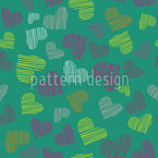 Fine Lined Hearts Design Pattern