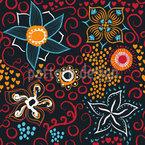Floral Art Seamless Vector Pattern Design