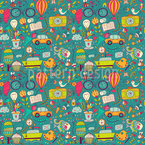 Life Can Be So Wonderful Seamless Vector Pattern Design
