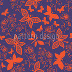 Late Butterfly Romance Seamless Vector Pattern Design