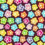 砂糖甘い花 シームレスなベクトルパターン設計