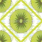 Florales Kiwi Karo Vektor Design