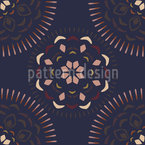 Ceylon Mandala Seamless Vector Pattern Design