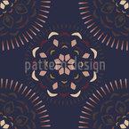 Mandala do Ceilão Design de padrão vetorial sem costura