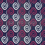 Snake Curls Seamless Vector Pattern Design