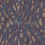 Art Nouveau Mysteriös Nahtloses Vektor Muster