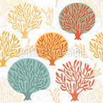 Tree Nursery In Autumn Repeat Pattern