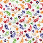 ペイズリーズの夏 シームレスなベクトルパターン設計