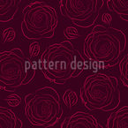 Her Beloved Roses Seamless Vector Pattern Design