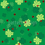 Good Luck Lady Bug Seamless Vector Pattern Design
