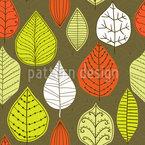 Blätter Mit Stil Muster Design