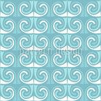 Poseidons Barba Design de padrão vetorial sem costura