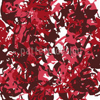 Camouflage Red Seamless Vector Pattern Design