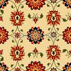Flor de Parede Damasco Design de padrão vetorial sem costura