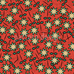 Sweet Star Flowers Seamless Vector Pattern