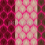 Pavo Real Wear Rosa Estampado Vectorial Sin Costura
