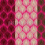 Pfau Trägt Pink Nahtloses Vektormuster