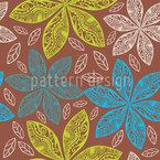 Polynesische Flora Muster Design