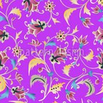 Flora Fantastica Seamless Vector Pattern Design