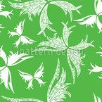 Polynesische Schmetterlinge Im Frühling Vektor Muster