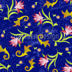 Flowers At Midnight Repeating Pattern