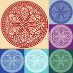 Mandala Patchwork Seamless Vector Pattern Design