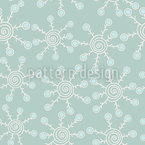 Winter Stars Seamless Vector Pattern Design