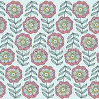 Zartheit Im Blumenbeet Nahtloses Vektormuster