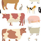 Barnyard Seamless Vector Pattern Design