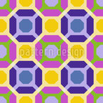 Octagon Connection Seamless Vector Pattern Design