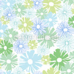 Daisies In The Morning Seamless Vector Pattern Design