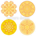Sun Of The East Seamless Vector Pattern Design