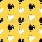 Cock A Doodle Doo Seamless Vector Pattern Design