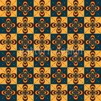 Schachbrett Floral Vektor Muster