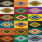 Apache Patchwork Seamless Vector Pattern Design