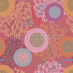 Festival Floral Seamless Vector Pattern Design