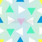 80年代の三角形 シームレスなベクトルパターン設計