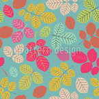 Beech Leaves Seamless Vector Pattern Design