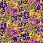 Pfingstblumen Muster Design