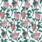 In The English Rose Garden Seamless Vector Pattern Design