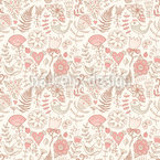Softness Of The Paradise Birds Repeat Pattern
