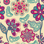 Flower Magic Bratislava Seamless Vector Pattern Design