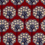 Apfelbäume Im Winter Nahtloses Vektormuster