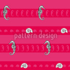 Marine Creatures Pink Repeat Pattern