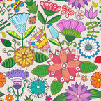 My Beautiful Garden Seamless Vector Pattern Design
