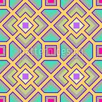 O Labirinto Quadrado Design de padrão vetorial sem costura