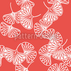 Ginkgo Red Pattern Design