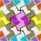 Funny Puzzle Seamless Vector Pattern Design